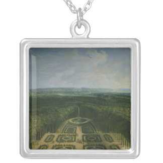 Promenade Louis XIV  in Gardens the Grand Silver Plated Necklace