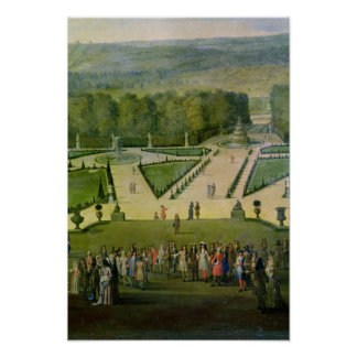 Promenade of Louis XIV by the Parterre du Nord Poster