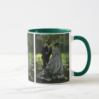 Promenaders by Claude Monet, Vintage Impressionism Mug