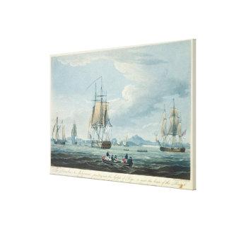 Prometheus and the Melpomene in the Gulf of Riga Canvas Print