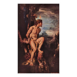 Prometheus by Gustave Moreau Poster