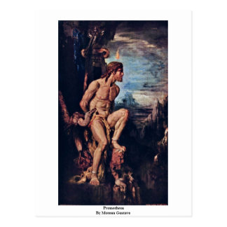 Prometheus By Moreau Gustave Postcard