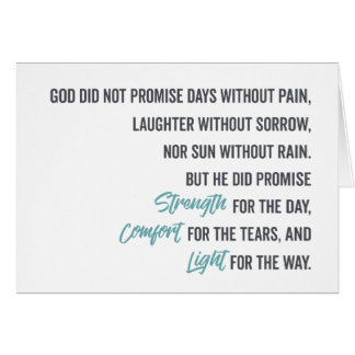 Promise of Strength Comfort and Light Card