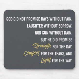 Promise of Strength Comfort and Light Mouse Mat