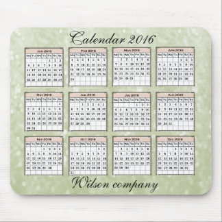 Promo Glamorous glittery yearly calendar 2016 Mouse Pad