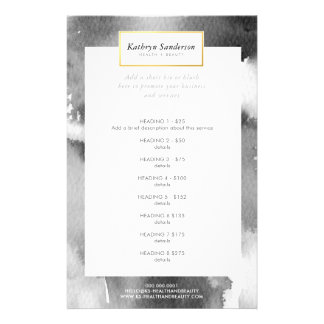 PROMO PRICE SERVICE LIST modern gray watercolor Flyer