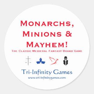 Promo Sticker: Monarchs, Minions & Mayhem! Round Sticker