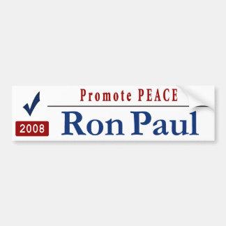 Promote Peace - Vote Ron Paul Car Bumper Sticker