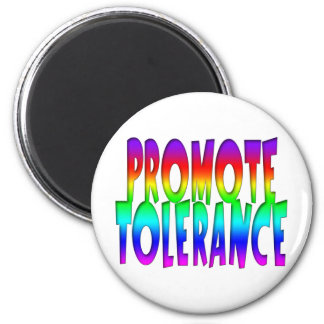 Promote Tolerance Rainbow 6 Cm Round Magnet