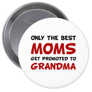 Promoted Grandma 10 Cm Round Badge