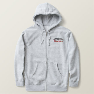 Promoted Grandpa Embroidered Hoodie