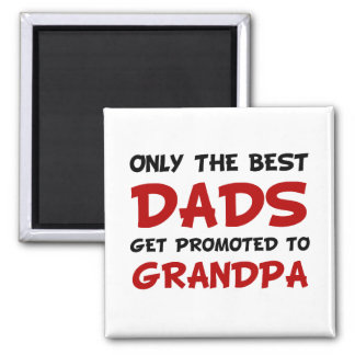Promoted Grandpa Square Magnet