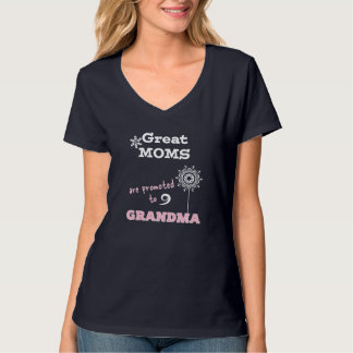 Promoted to Grandma Tees Baby Announcement