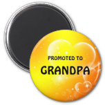 Promoted to Grandpa 6 Cm Round Magnet