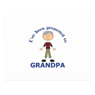 PROMOTED TO GRANDPA POSTCARDS