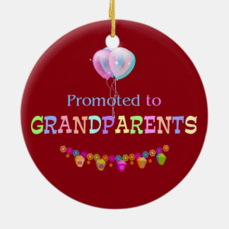Promoted to Grandparents, celebration Christmas Ornament