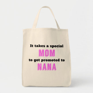 Promoted To Nana Grocery Tote Bag