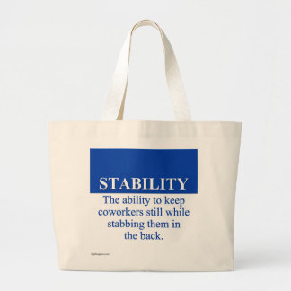 Promoting Workplace Stability (3) Jumbo Tote Bag