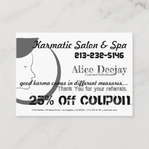 Spa and aesthetics business cards zazzle uk promotion business card combo reheart Image collections