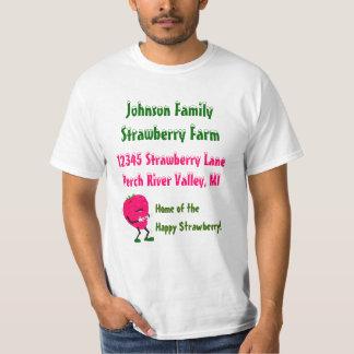 Promotion Gift Shirt Strawberry Farm Advertising