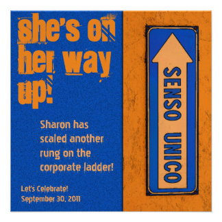 Promotion Party - She s on Her Way Up Invite