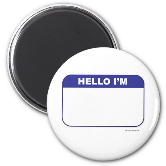 Promotional Custom Name Tag 6 Cm Round Magnet