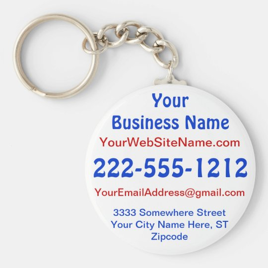 Promotional Keychains No Minimum, Small Business