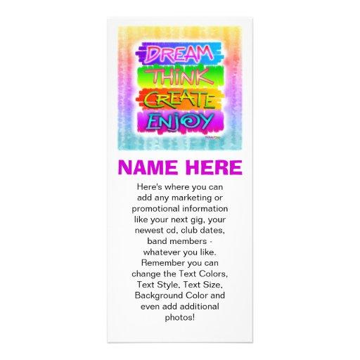 Promotional Rack Cards - Dream Think Create Enjoy