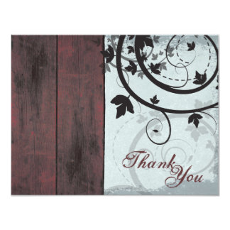 Promotional Thank You Referral Card Barn Board Personalized Announcement