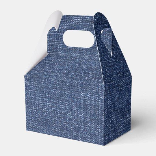 Pronounced Texture Of Blue Jeans Favour Boxes