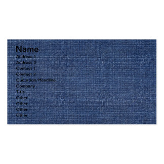 Pronounced Texture Of Blue Jeans Pack Of Standard Business Cards