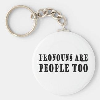 Pronouns Key Ring