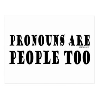 Pronouns Postcard
