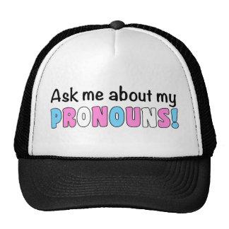 Pronouns Trucker Hat (Trans Pride)