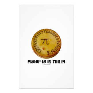 Proof Is In The Pi (Pi On Baked Pie) Custom Stationery