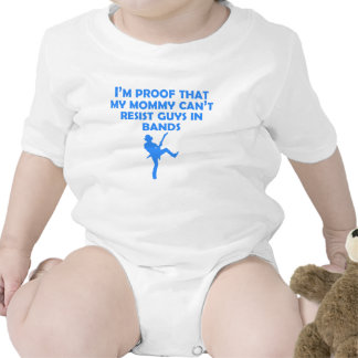 Proof That Mommy Can't Resist Guys In Bands Baby Bodysuits