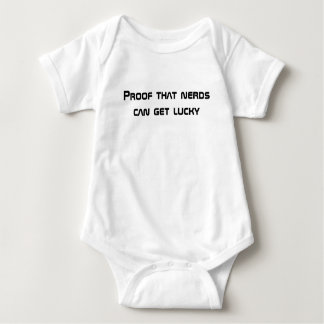 Proof that nerds can get lucky baby bodysuit