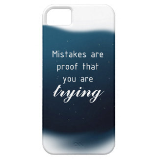 Proof That You Are Trying iPhone 5 Cover