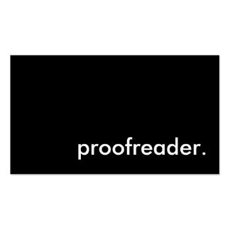 proofreader. pack of standard business cards