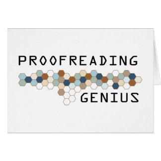 Proofreading Genius Cards