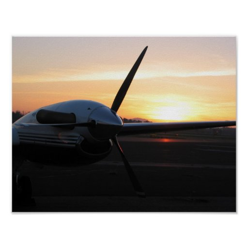 Prop at Sunset Poster