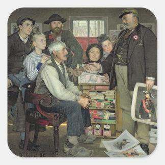 Propaganda, 1889 square sticker