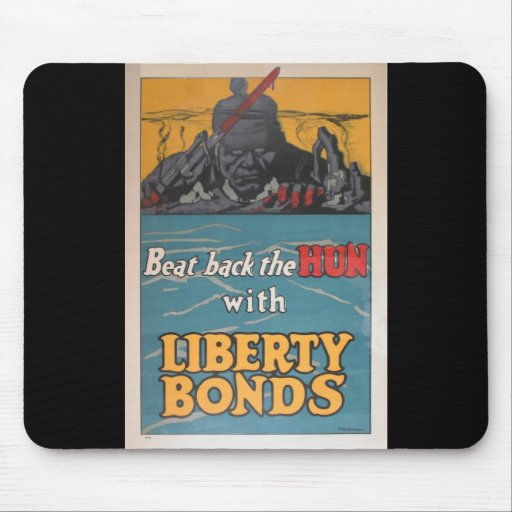 "Propaganda Poster ""Beat Back the Hun"" Mouse Pad"