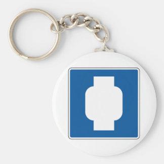 Propane Street Sign Basic Round Button Key Ring