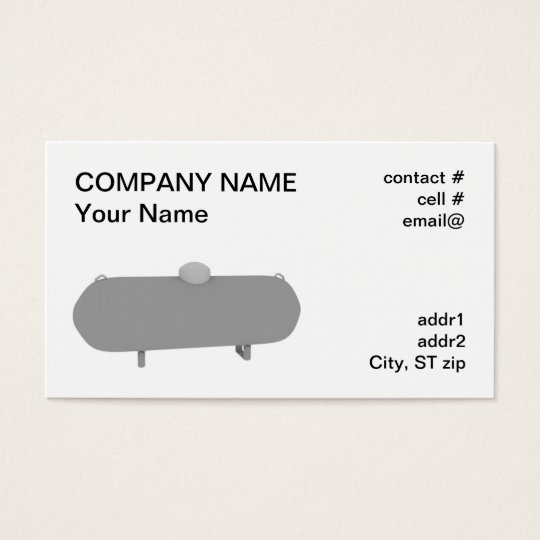 propane tank business card