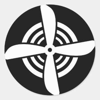 Propeller Round Sticker