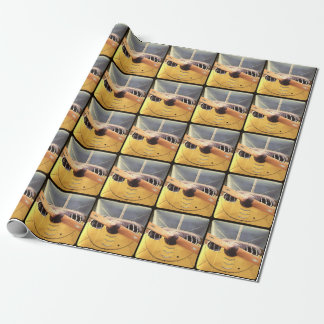 Propeller Yellow Airplane Wrapping Paper