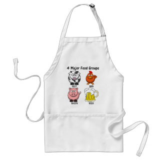 Proper American Diet: Four Major Food Groups 1 Adult Apron