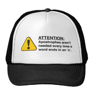 Proper Apostrophe Usage T-shirts Hat