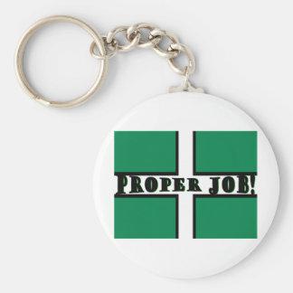 Proper Job - Devon Basic Round Button Key Ring